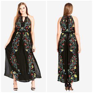 NWT City Chic Secret Vine Maxi Dress
